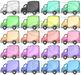 Kawaii Trucks Clipart