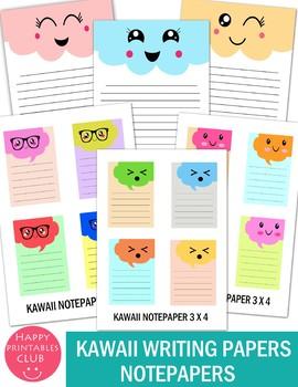 Kawaii Writing Papers- Kawaii Notepapers-Kawaii Writing Stationary