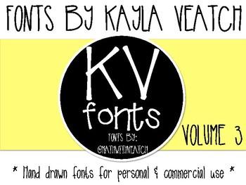 Kayla Veatch Fonts: Volume 3