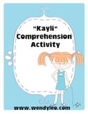 Kayli ELA Activity/printable/worksheet/review