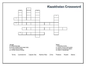 Kazakhstan Geography Maps, Flag, Data, Assessment - Map Skills Data Analysis