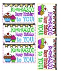 Kazoo Birthday Treat Tag