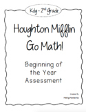Kdg, 1st, and 2nd BUNDLE GO! Math Beginning of the Year Pl