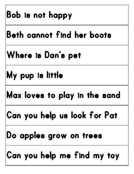 Asking and Telling Sentences Center