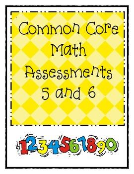 Kdg. Common Core Math Assessments 5 & 6