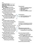 Keats- Ode on a Grecian Urn Worksheet