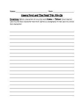 Keena Ford - Character Analysis Writing