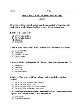Keena Ford and The Field Trip Mix-Up Quiz