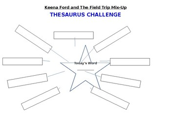 Keena Ford and The Field Trip Mix-Up Thesaurus Challenge