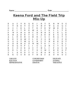 Keena Ford and The Field Trip Mix-Up Word Search - Vocabulary