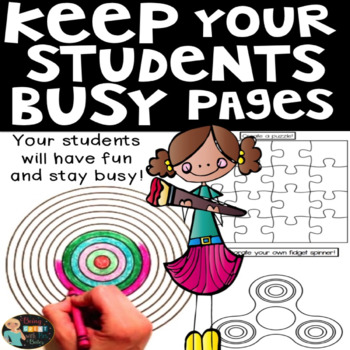 Keep Busy End of Year Activities