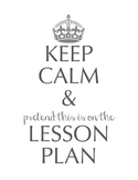 Keep Calm/Lesson Plan Binder Cover