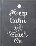 Keep Calm Chalk Board Sign