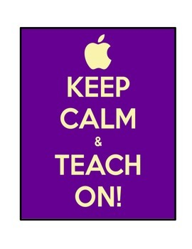 Keep Calm Classroom Posters