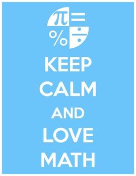 Keep Calm Love Math Poster
