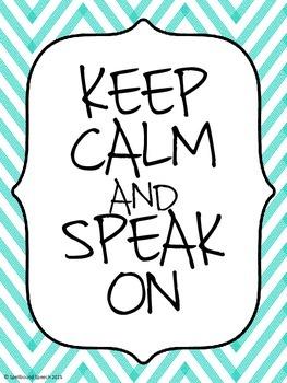 """Keep Calm"" Posters for Better Hearing & Speech Month (BHSM)"