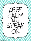 """Keep Calm"" Posters for Better Hearing & Speech Month (BHSM)"