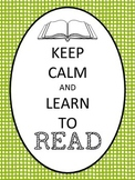 Keep Calm Read on Poster - Apple Green