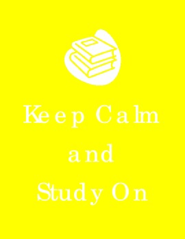 Keep Calm Study On