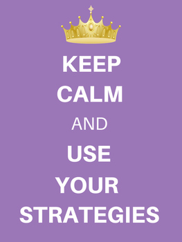 Keep Calm Use Strategies Poster