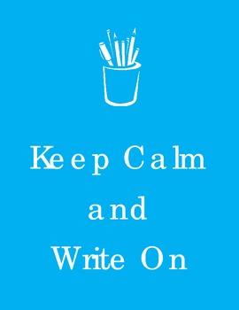 Keep Calm  Write On