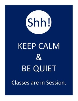 quiet class in session door sign