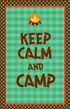 Keep Calm and Camp Large Poster