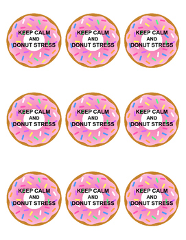Keep Calm and Donut Stress