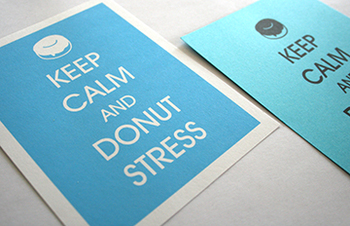 Keep Calm and Donut Stress - Printable Teacher Note