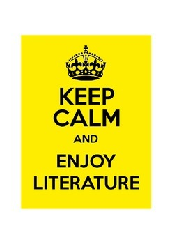 Keep Calm and Enjoy Literature (Mini Poster / Image)