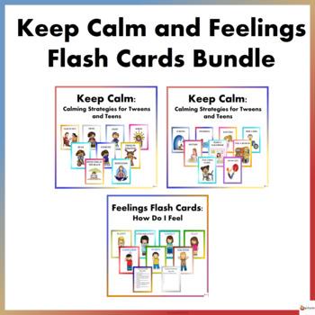 Keep Calm and Feelings Flash Cards Bundle