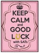 Keep Calm and Good Luck with SATs UK Motivational POSTERS