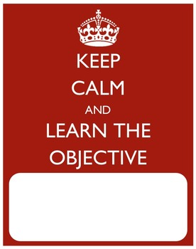 Keep Calm and Learn the Objective