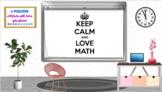 Keep Calm and Love Math Bitmoji Virtual Classroom Google Slides Template