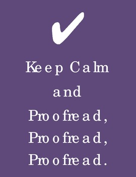Keep Calm and Proofread