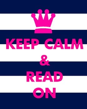 Keep Calm and Read On Navy and Pink Style