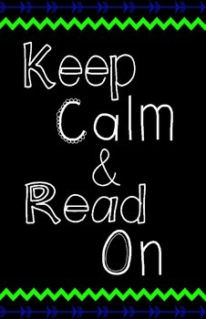 "Keep Calm and Read On Posters (11x17"")"