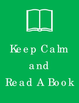 Keep Calm and Read a Book Poster