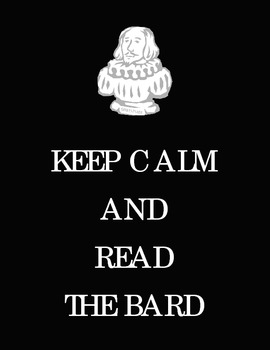 Keep Calm and Read the Bard Poster