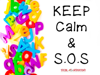 Keep Calm and S.O.S Poster Orton-Gillingham
