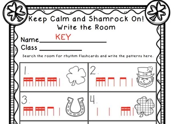 Keep Calm and Shamrock On! Write the Room Music Edition Bundle (3 sets)