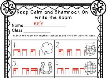 Keep Calm and Shamrock On! Write the Room Music Edition ti-tika tika-ti Set