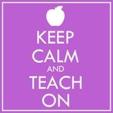 Keep Calm and Teach On Clip Art