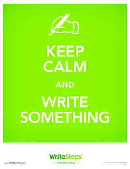 Keep Calm and Write Something Poster