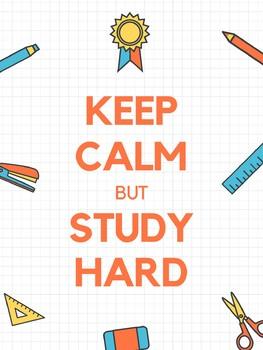 Keep Calm but Study Hard Poster
