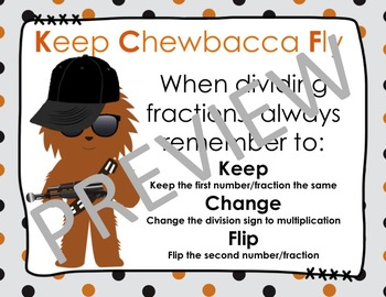 Keep Chewbacca Fly (Keep Change Flip) (Dividing Fractions)