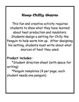 Keep Chilly the Penguin Warm: A Heat Activity