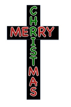 Keep Christ in Merry Christmas Cross Graphic
