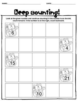 Keep Counting-- Math Activity