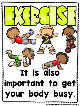 Keep Fit!  Get Your Body Busy  (Emergent Reader and Teacher Lap Book)